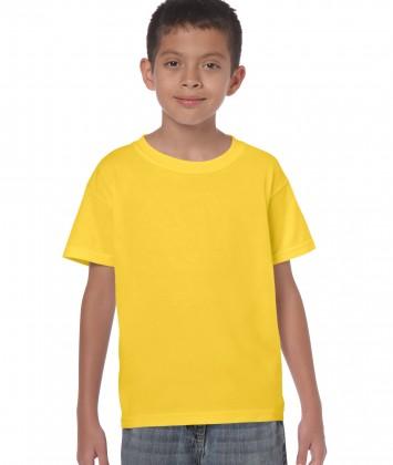 tricou-bumbac-copii-galben