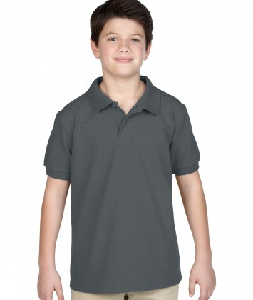 tricou-polo-copii-gildan-gri-charcoal