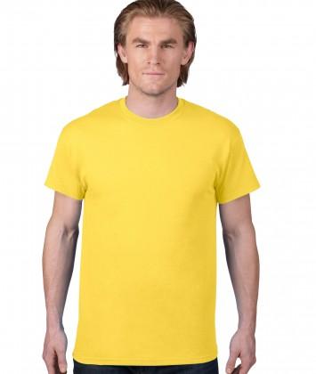 tricou-unisex-bumbac-Anvil-albastru-galben-lemon