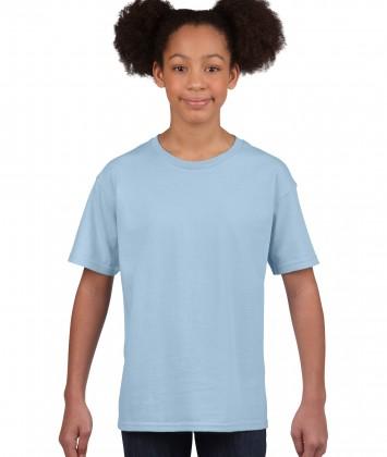 tricou bumbac copii Gildan bleu