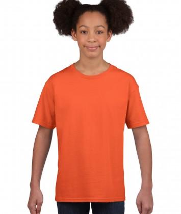 tricou bumbac copii Gildan portocaliu