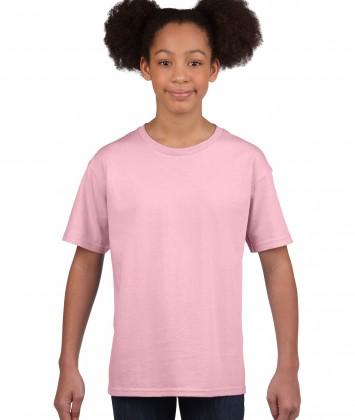 tricou bumbac copii Gildan roz