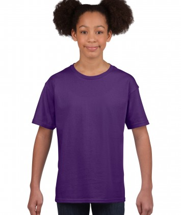 tricou bumbac copii Gildan violet