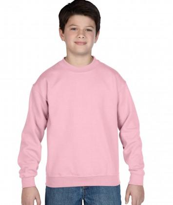 bluza-copii-groasa-gildan-roz-deschis