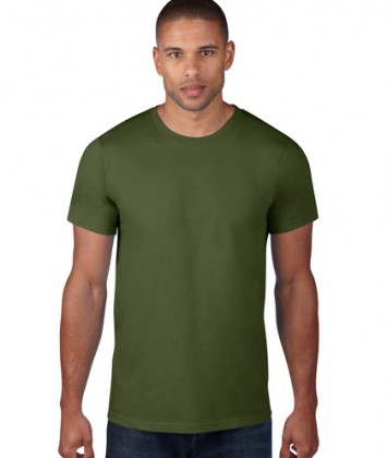 tricou-barbati-bumbac-Anvil-Light-Blue-City-Green-verde-inchis