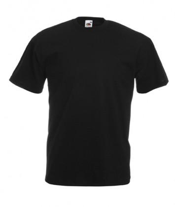 tricouri-unisex-fruit-of-the-loom-negru