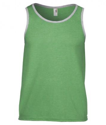Maieu-barbati-bumbac-vara-verde-heather-gri