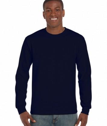 tricouri-barbati-cu-maneca-lunga-gildan-ultra-cotton-albastru-navy