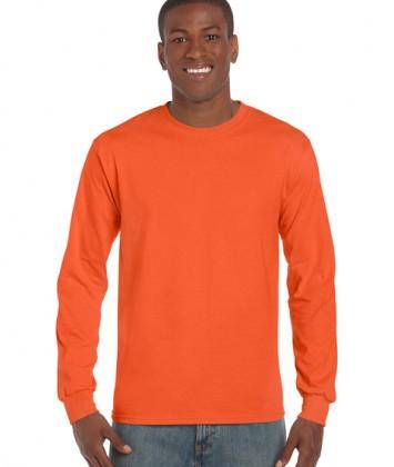 tricouri-barbati-cu-maneca-lunga-gildan-ultra-cotton-portocaliu