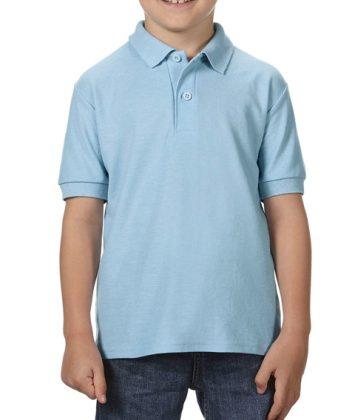 Tricou-polo-copii-gildan-dry-blend-albastru-deschis