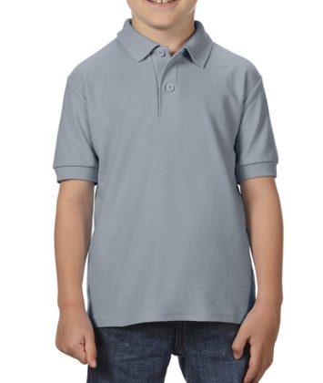 Tricou-polo-copii-gildan-dry-blend-gri-charcoal