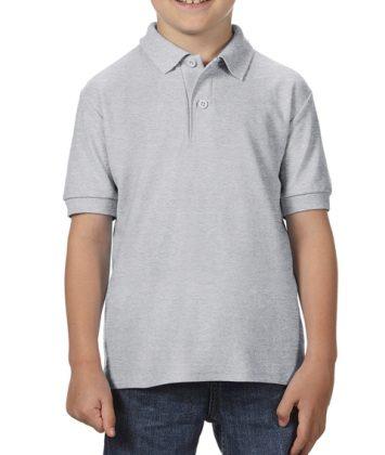 Tricou-polo-copii-gildan-dry-blend-gri-sport