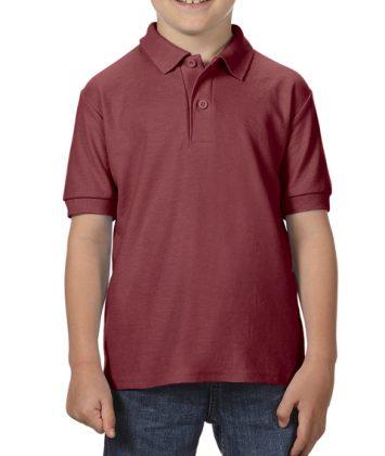 Tricou-polo-copii-gildan-dry-blend-maroon