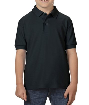 Tricou-polo-copii-gildan-dry-blend-negru