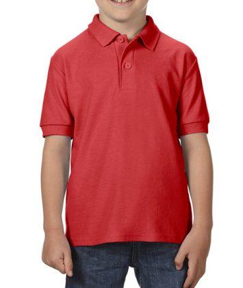 Tricou-polo-copii-gildan-dry-blend-rosu