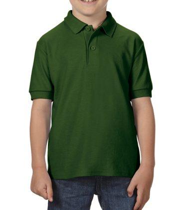 Tricou-polo-copii-gildan-dry-blend-verde-forest