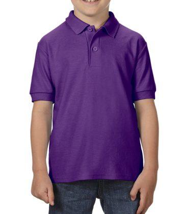 Tricou-polo-copii-gildan-dry-blend-violet