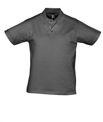 tricou-barbati-polo-bumbac-gri-charcoal-prescott