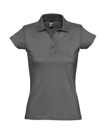 tricou-dama-polo-bumbac-gri-charcoal-prescott