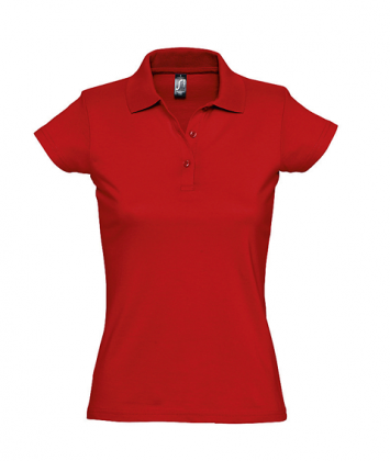 tricou-dama-polo-bumbac-rosu-prescott