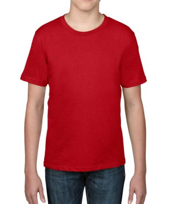 tricou-copii-anvil-basic-tee-rosu