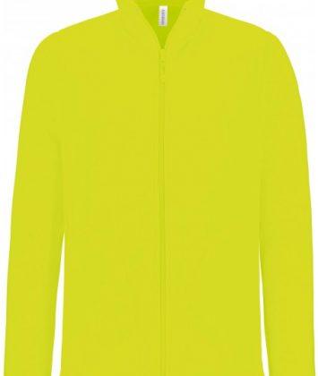 bluza-unisex-cu-fermoar-falco-kariban-galben-neon