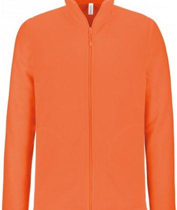 bluza-unisex-cu-fermoar-falco-kariban-portocaliu-neon