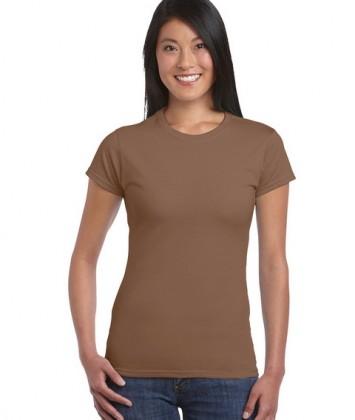 tricouri-femei-bumbac-maro-chestnut