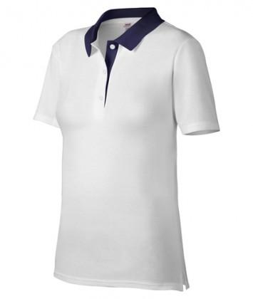 tricou-polo-femei-alb-navy-anvil