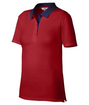 tricou-polo-femei-rosu-navy-anvil